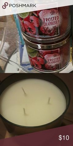 Bath and body works Candles  2 Frosted  Cranberry $10.00 each   1 toasted  Graham latte $10.00 Other