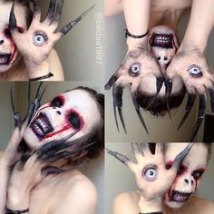19-Year-Old Makeup Artist Transforms Herself Into Horrific Looking Characters