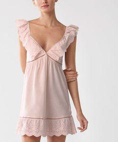 Oysho - Cut work strappy nightdress