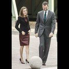 Letizia Et Felipe VI D'Espagne Au CNIC À Madrid Le 9 Février 2017 2