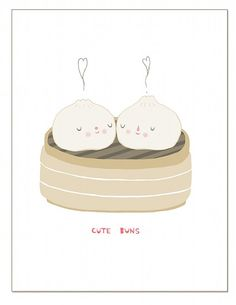 Cute Buns Card, $4.00
