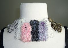 PRETTY IN POODLES micro beaded dog collar by thelonebeader on Etsy, $1,450.00    Okay, they look great. But will anybody pay that?
