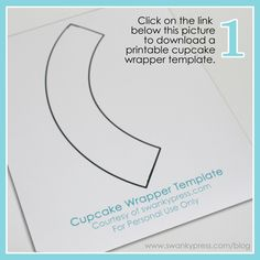 Cup Cake Template for making your own wrappers.  I am going to do my sons for his graduation party!!!