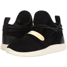 Giuseppe Zanotti Single Low Top Sneaker (Black) Men's Lace up casual... ($750) ❤ liked on Polyvore featuring men's fashion, men's shoes, men's sneakers, mens lace up shoes, mens black velcro sneakers, mens black shoes, mens sneakers and mens black slip on sneakers