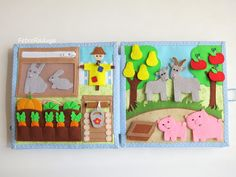 "Developmental book ""Farm"" TURN 2 ""Garden"" and ""Garden"" (@)"