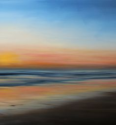 """Santa Ana Sunset, 2012  36"""" x48""""  Oil on canvas.  SOLD. Prints avail at www.saatchionline.com"""