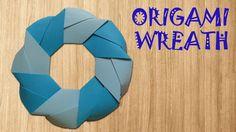 Origami Wreath – Origami Easy – How to make Diy Origami, Snowflake Origami, Origami Wreath, Origami Ornaments, Origami Bird, Christmas Origami, Paper Crafts Origami, Dollar Origami, Origami Dragon