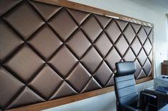Valkárné Loss Éva lakberendező tervei alapján készült faldekoráció Bed Headboard Design, Bed Frame Design, Bedroom Bed Design, Headboards For Beds, Master Bedroom Interior, Home Decor Bedroom, Renovation Design, Acoustic Wall Panels, Wood Table Design