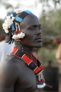 Africa | 'Hamer man'. Omo Valley, Ethiopia. | © Jean-Christophe Huet