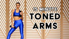 15 MIN Toned Arms // Biceps - Triceps - Shoulders // Dumbbells // Sami Clarke - YouTube Biceps And Triceps, Toned Arms, Upper Body, Workout Videos, Lose Weight, Shoulder, Fitness, Youtube, Exercises