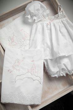 Embroidered castle and fairy Christening lathopana Christening, White Shorts, Fairy, Women, Fashion, Bebe, Moda, Women's, La Mode