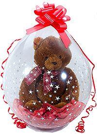 Stuffed Balloon - Teddy Bear in Balloon Helium Filled Balloons, Balloons And More, Giant Balloons, Latex Balloons, Stuffed Balloons, Balloon Centerpieces, Balloon Decorations, Balloon Ideas, Balloon Bouquet