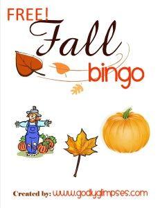 Fall Bingo Game {freebie} - Frugal Homeschool Family