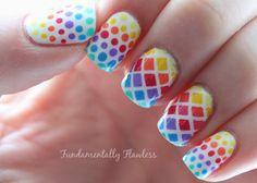 Rainbow colors. Cute!
