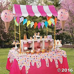 This delightful party decorating idea is perfect for your ice cream celebration! Using our DIY party decorating ideas, you can create a sweet scape for your ...