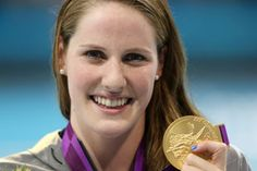 Missy Franklin with her gold medal. (Getty Images); set a world record in the 200 back