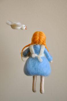Los niños Waldorf móvil inspiradora aguja fieltro por MagicWool