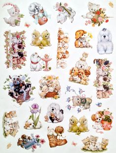 Current, Inc. Ruth Morehead cat & dog stickers
