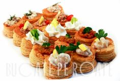 vol au vent, canapes, fingerfood, catering, food, shrimps, see food,