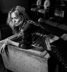 Rock 'n' Roll Style ✯ Kate Moss by Craig McDean for Vogue UK, May 2016
