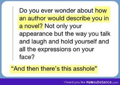 *Sorry about the swears!* But seriously, would the author say I am the snarky one or the inspiring one?
