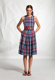 Madras Check Dress - Dresses and Skirts - Clothing - WOMEN