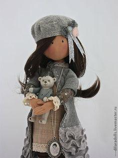 """Коллекционные куклы ручной работы. Ярмарка Мастеров - ручная работа текстильная кукла """" EMILY"""" продана. Handmade."""