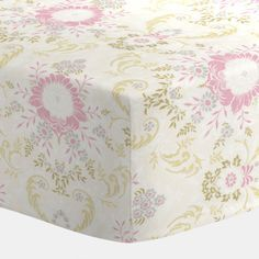 Crib sheet in Juliet Damask.    Our fitted crib sheets feature deep pockets and have elastic all the way around the edges to hug mattresses