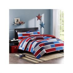 Mi Zone Nicholas Navy Twin Coverlet Set - The Home Depot Boys Bedding Sets, Sports Bedding, Teen Girl Bedding, Bedding Sets Online, Teen Girl Bedrooms, Dorm Bedding, Coverlet Bedding, Cosy Bedroom, House Beds