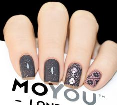 Plate for steamping MoYou London Mexico 07 - buy in online store LakoDom Great Nails, Fabulous Nails, Gorgeous Nails, Love Nails, Pretty Nail Designs, Nail Art Designs, Bridesmaids Nails, Nail Jewels, Modern Nails
