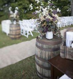 ideas for wedding reception food tables decorations wine barrels Trendy Wedding, Rustic Wedding, Our Wedding, Dream Wedding, Wedding Ideas, Wedding Country, Country Weddings, Chic Wedding, Wedding Things