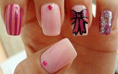 VS nails Gem Nail Designs, Hair And Nails, Hair Beauty, Cute Hair
