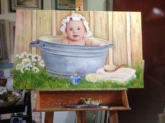 Pintei minha neta Paola
