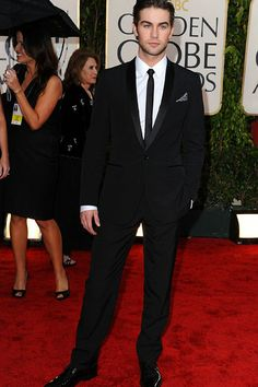Sexy Black Suit with Skinny Tie
