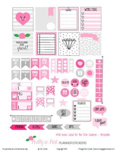 FREE Pretty in Pink Planner Stickers | Free planner printable by Vintage Glam Studio