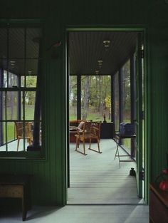 Trend We Love: The Sexy Cabin.  Love this green interior!