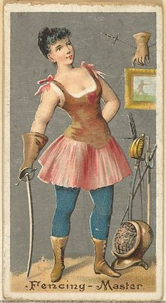 "The ""Occupations for Women"" series of trading cards was issued by Goodwin & Company in 1887 to promote Old Judge and Dogs Head Cigarettes. The Metropolitan Museum of Art owns all 50 cards in the series, as well as three duplicate cards Vintage Photographs, Vintage Images, Fancy Dress Ball, Cigarette Brands, Sewing Cards, Steampunk Accessories, Famous French, Dangerous Woman, Women Life"