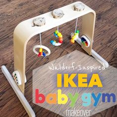 Put Up Your Dukes: Under the Rainbow: Modern Minimalist Waldorf-Inspired IKEA Baby Gym Hack