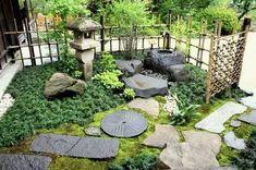 Japanese Garden Style, Japanese Garden Landscape, Japanese Gardens, Small Gardens, Outdoor Gardens, Diy Plants, Garden Plants, Japan Garden, Garden Web