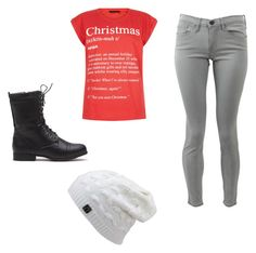 """""""Cristmas day"""" by purplepizza on Polyvore featuring Frame Denim"""
