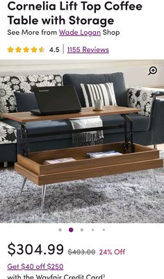 Lift Top Coffee Table, Coffee Table With Storage, Armoire, Bench, Cabinet, Shopping, Furniture, Home Decor, Footlocker