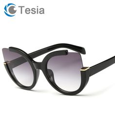 b8814bc7d Aliexpress.com : Buy TESIA High Quality Cat Eye Sunglasses Women Brand  Designer Coating Lens Mirror Sun Glasses Female UV400 Ladies Shade T519  from Reliable ...