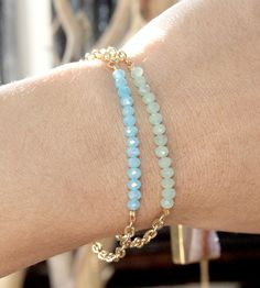 Gold Sparkler Bracelet with Crystal Beads | Jewelry Bracelets | Sunday Girl 77 | Scoutmob Shoppe | Product Detail