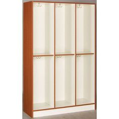 Stevens ID Systems 3-Section Contemporary Locker Finish: Cherry