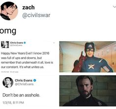 Chris Evans tweets Steve rogers capatain America before and after cap psa