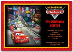 Cars Birthday Invitation | personalized cars invitation | cars birthday party  #carsinvitation #disneycarsinvitation