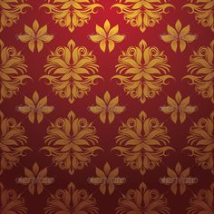 Buy Gold and Red Pattern by alitsuarnegara on GraphicRiver. Gold and Red Pattern, Easy to use. ZIP file included : EPS (CMYK vector file = you can use any size you want without . Eps Vector, Vector File, Vectors, Vector Portrait, Red Pattern, Background S, Vector Pattern, Victorian Fashion, Graphic Design
