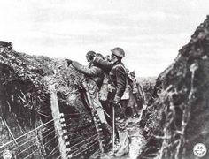 Trench warfare in WW1.