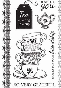 High Tea Clear Stamp – Memories Forever