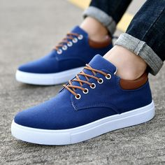 Merkmak Canvas Shoes Men Casual Shoes 2018 Spring Autumn Sneakers Lace Up Men Comfortable Shoes Big Size 47 Handmade Moccasins Outfit Accessories From Touchy Style Fashion Mode, Fashion Flats, Fashion Brand, Sneakers Fashion, Net Fashion, Womens Fashion, Loafer Shoes, Men's Shoes, Mens Canvas Shoes